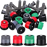 7. Patelai 32 Pieces 4 Type Variable Arc Nozzle Pop-Up Sprinkler Head Adjustable 360 Degree Rotating Sprinkler Heads Replacement for Garden Lawn Irrigation (Multi Colors)