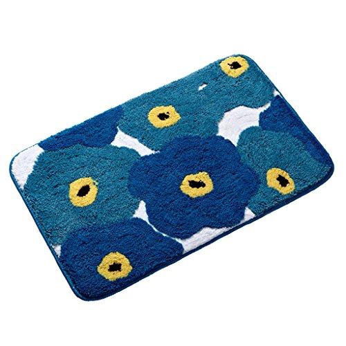 Blue Living Floor Tapis de Sol, Tapis de Salle de Bain, Baignoire Matelas antidérapant (Color : Blue-A)