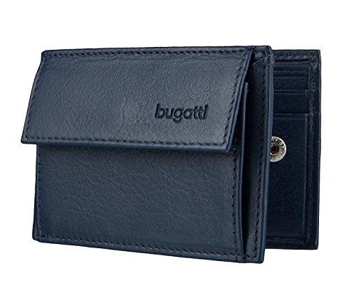 Bugatti Geldbörse Sempre mit Tasche, 10cm, blau