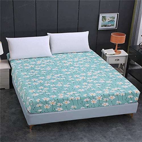Sábana bajera ajustable de 100 % poliéster de alta calidad con impresión ajustable y elástica, tamaño personalizable para hotel en casa (color: Aiyufeifei, tamaño: 90 x 190 x 15 cm)