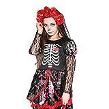Girls Skeleton Costume Kids Halloween Zombie Bride Cosplay Dress - Bride(10-12 Year)