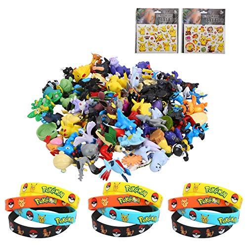 Colmanda 38 Stück Figuren Spielzeug Set, 24 Pearl Minifiguren + 12 Silikon Armband + 2 Aufkleber für Erwachsene und Kinder