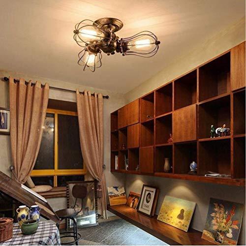 Plafondlamp retro designer plafondlamp creatief design kroonluchter restaurant keuken woonkamer 360 deg; rotatielamp 14 centimeter E27 [energieklasse