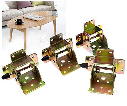 Generic Lot de 4 Tables verrouillables avec charnières 75 x 60 x 55 mm
