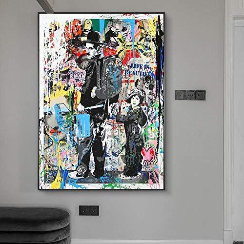 Puzzle 1000 Piezas Pintura Graffiti Imagen carácter Arte Pintura Puzzle 1000 Piezas Adultos Juego de Habilidad para Toda la Familia, Colorido Juego de ubicación.50x75cm(20x30inch)