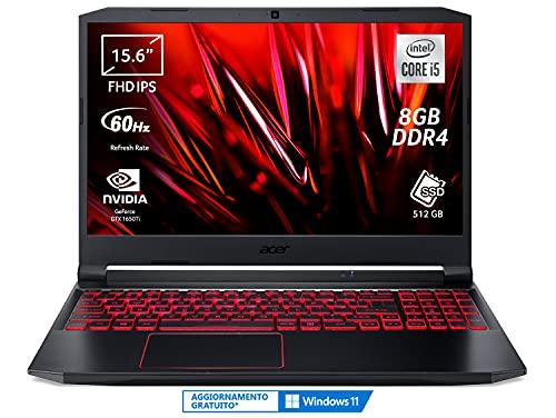 Acer Nitro 5 AN515-55-53PX Computer Gaming, Processore Intel Core i5-10300H, Ram 8 GB DDR4, 512 GB...