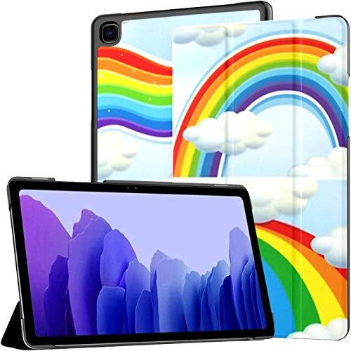 Funda para Samsung A7 2020 Cuatro Patrones Rainbow Sky Illustration Fit Samsung Galaxy Tab A7 10.4 Pulgadas 2020 Compatible con Galaxy A7 Funda Funda Tablet PU Funda de Cuero
