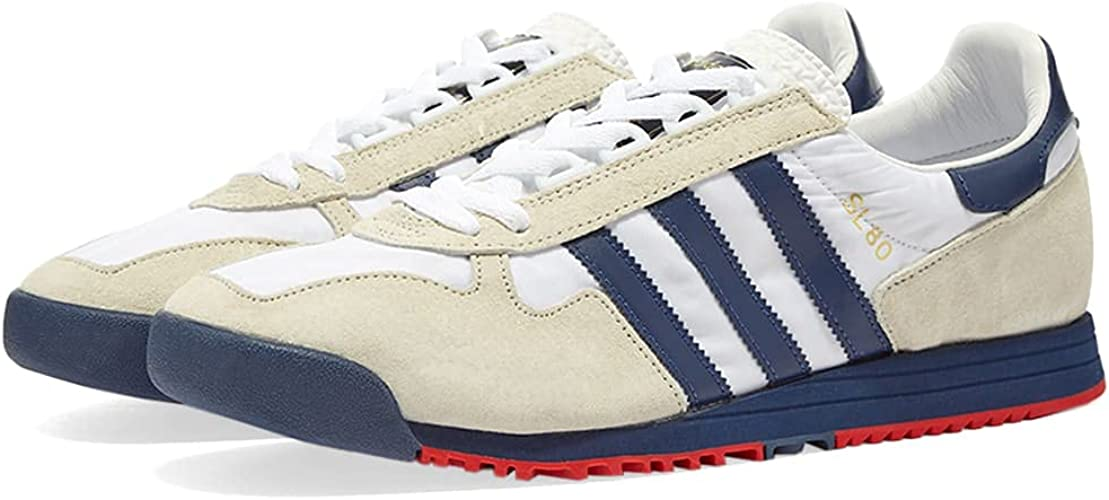 adidas SL 80, Baskets Homme, Blanc et Gris Tech Indigo Grey, 37 1 ...