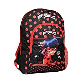 Mochila 37 cm Disney Miraculous / Ladybug Negro y rojo Bagtrotter