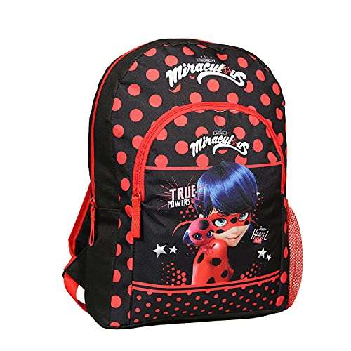Mochila 37 cm Disney Miraculous   Ladybug Negro y rojo Bagtrotter