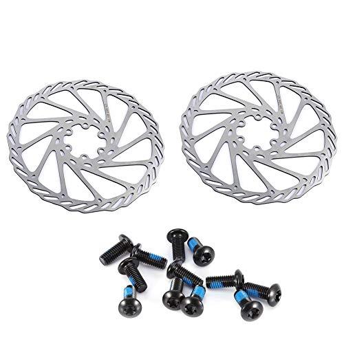DEWIN Fahrradscheibenbremsscheiben, 2 Stück/Satz Edelstahl Mountain Road Fahrradbremsenteile, 140 mm, 160 mm, 180 mm(180mm)