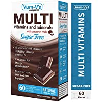 60 Count YumVs Complete Sugar-Free MultiVitamin Chewables with Coconut Milk