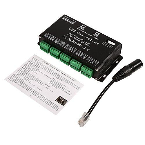 Decodificador DMX, decodificador LED DMX, controlador DMX512 / 1990 Módulo de tira de controlador decodificador DMX para iluminación LED de luz RGB