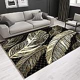 tappeto Salotto Moderno Soggiorno - Tappeto camera da letto design creativo piuma di platino contemporaneo semplice quadrato comodo e morbido-120x160 cm