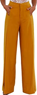 SOMTHRON Women's High Rise Belted Slim Fit Cigarette Pants High Waist Long Straight Tapered Leggings Pants with Belt
