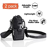Zeadio Multi-Function Pouch Case Holder for GPS Phone Two Way Radio - ZNC-D, Pack of 2