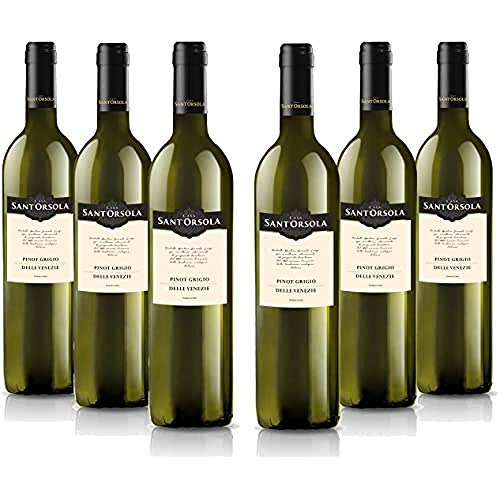 Sant'Orsola Pinot Grigio Delle Venezie D.O.C. Weißwein 6 Flaschen Pinot Grigio trocken (6 x 0.75 l)