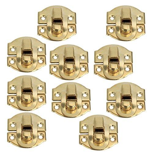 BQLZR Gelb Mini Spannverschluss Buckle Schnappverschluss für Schränkchen Schublade