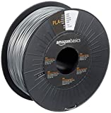 Amazon Basics - Filamento para impresora 3D, ácido poliláctico (PLA), 1.75 mm, cinta de 1 kg, plateado