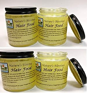 Nature's Blessings Hair Food 3.7 OZ (4 Pack Combo)
