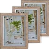 GiDan Portafotos de mesa múltiple, marco de fotos moderno 13 x 18 cm, múltiple de 3 elementos plegable de madera clara, moderno, artesanal, idea regalo original
