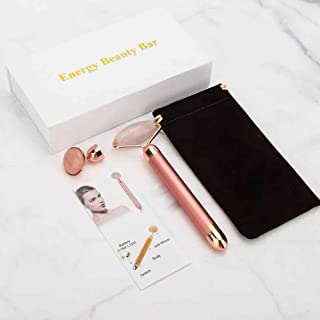 FBA: Energy Beauty Bar - Rose Quartz Facial Skin Tightening Roller with Electronic Vibration Energy - 2 in 1 (thejmed.com)