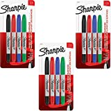 Sharpie 32174PP Twin Tip Permanent Markers, Fine and Ultra Fine, Assorted Colors, 4 Count (3)