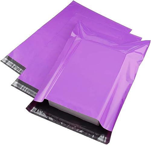 100 Pink Purple 12x15 Flat Poly Postal Mailer Envelopes Self Seal USPS Shipping