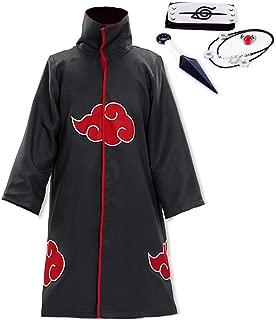 Unisex Robe Akatsuki Cloak Suit for Uchiha Itachi Cosplay Costume - Deluxe Version