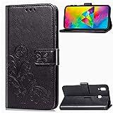 Coque pour Galaxy M20 Prime PU Cuir Flip Folio Housse Étui Cover Case Wallet Portefeuille Support...