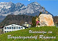 Unterwegs im Bergsteigerdorf Ramsau (Wandkalender 2022 DIN A2 quer): Ramsau empfaengt seine Naturliebhaber, Wanderer und Sonnenanbeter mit einer attraktiven Mischung aus herzlicher Gastfreundschaft, imposanten Bergen, funkelnden Seen und bodenstaendigem Brauchtum. (Monatskalender, 14 Seiten )