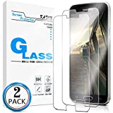 KATIN Galaxy S5 Screen Protector - [2-Pack] for Samsung Galaxy S5 Tempered Glass No-Bubble, 9H Hardness, Easy to Install