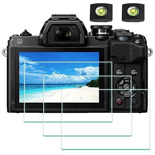 Displayschutzfolie für Olympus OM-D E-M10 Mark IV Kamera & Blitzschuh-Abdeckung, ULBTER 0,3 mm, 9H Härte, gehärtetes Glas, kratzfest, Anti-Fingerabdruck, 3 Stück