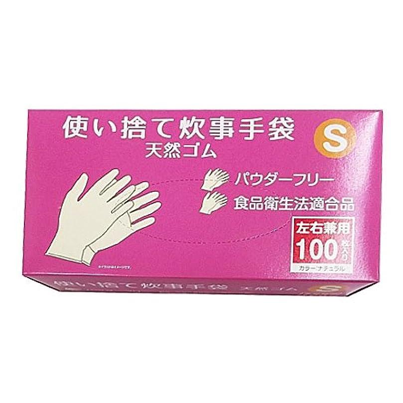 表向きファイババストコーナンオリジナル 使い捨て 炊事手袋 天然ゴム 100枚入り S