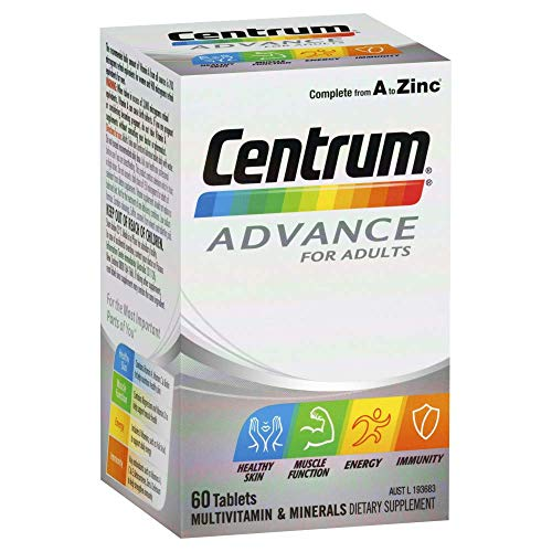Centrum Multivitamin And Mineral Tablets for Adults, Multi, 60 count, Pack of 60