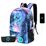 Best Cool Backpacks - Galaxy Backpack, Anime Luminous Backpack Lightweight Laptop Backpack Review
