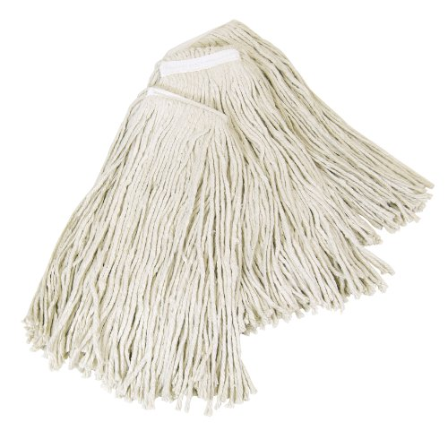 Quickie Cotton Wet Mop Refill, 3-Pack, 24 Ounce, 100% Cotton, Cut End Mop Head, Absorbent for Cleaning