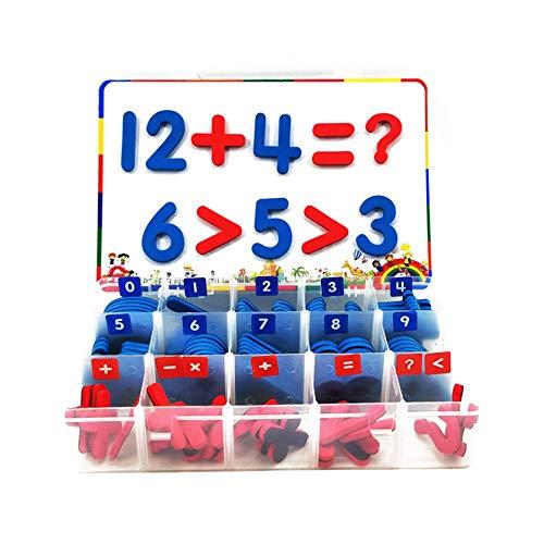 Magnetzahlen, 108 Stück, Schaumstoff-Zahlenmagnete, mit Schreibtafel, Lernspielzeug für Vorschullernen, Zählen
