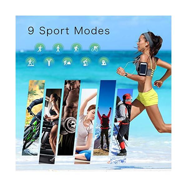 YONMIG Reloj Inteligente Mujer y Hombre, Smartwatch Impermeable IP68 Pulsera Actividad Deportivo con Monitor de Sueño… 4