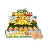 3 x fischietti in gomma per flummie. Sembra un vero uovo grezzo e salta come una gomma Splendido regalo per Pasqua o feste di compleanno per bambini, feste, regalini. Dimensioni: circa 5 x 3,5 cm.