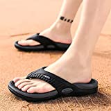 Playa Flip-Flops Verano Zapatillas Sandalias de Masaje Hombres cómodos Zapatos Casuales Moda Hombres Flip chancles Calzado (Color : A, Shoe Size : I)