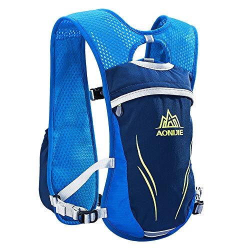 AONIJIE mochila de hidratación para correr o correr carrera chaleco de hidratación con mochila de hidratación ligera para hombres y mujeres