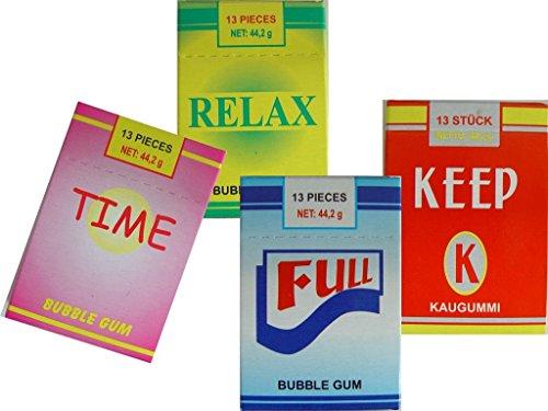 Kaugummi Zigaretten mit Raucheffekt 4er Set