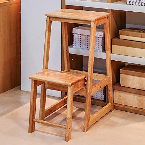 Massief hout Thuis Vouw Trappenkast Dual Gebruik Multifunctionele Indoor Ladder Plank Verander De Schoenkruk