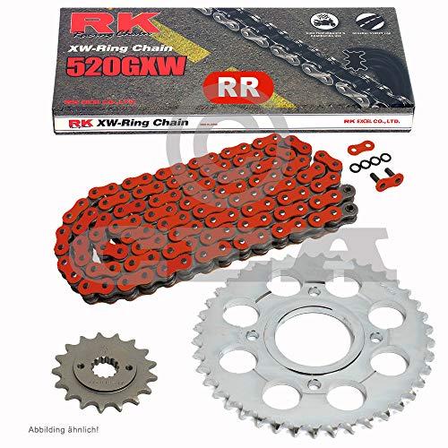 Chaîne de Ducati S-Sport 750 01–02, chaîne RK RR 520 gxw 98, rouge, ouvert, 15/40