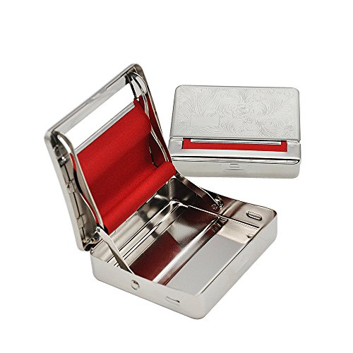Rolling Machine Metal Red Cloth Automatic Cigarette Tobacc Roller Box & Storage Box 70mm