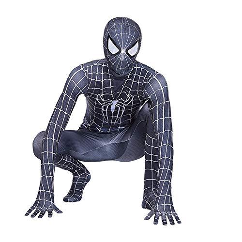 Niños Niños Negro Blanco Spider-Man: Disfraces Lejos De Casa, Mono De Cosplay Carnaval De Halloween Traje De Vengadores Traje De Disfraces para Fiesta Disfraz,Black White-Kids(100~110cm)