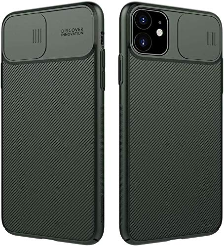Nillkin iPhone 11 Pro Max Case, CamShield Series Case with Slide Camera Cover, Slim Stylish Protective case for iPhone 11 Pro Max 6.5 inch (2019) - Dark Green