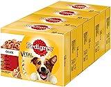 Pedigree Vital Protection, Cibo per cani con carne di manzo, pollo e agnello in gelatina, 48 buste (48 x 100 g)