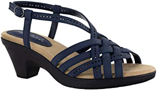 Easy Street Women Sandal,Navy,8.5 N US